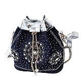 Best Donalworld Messenger Bags - Donalworld Women's Silt Pocket Chains Bucket Diamonds Denim Review