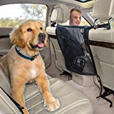 Pikaon Front Seat Barrier, Car Dog Barrier Vehicle Backseat Mesh Universal Fit