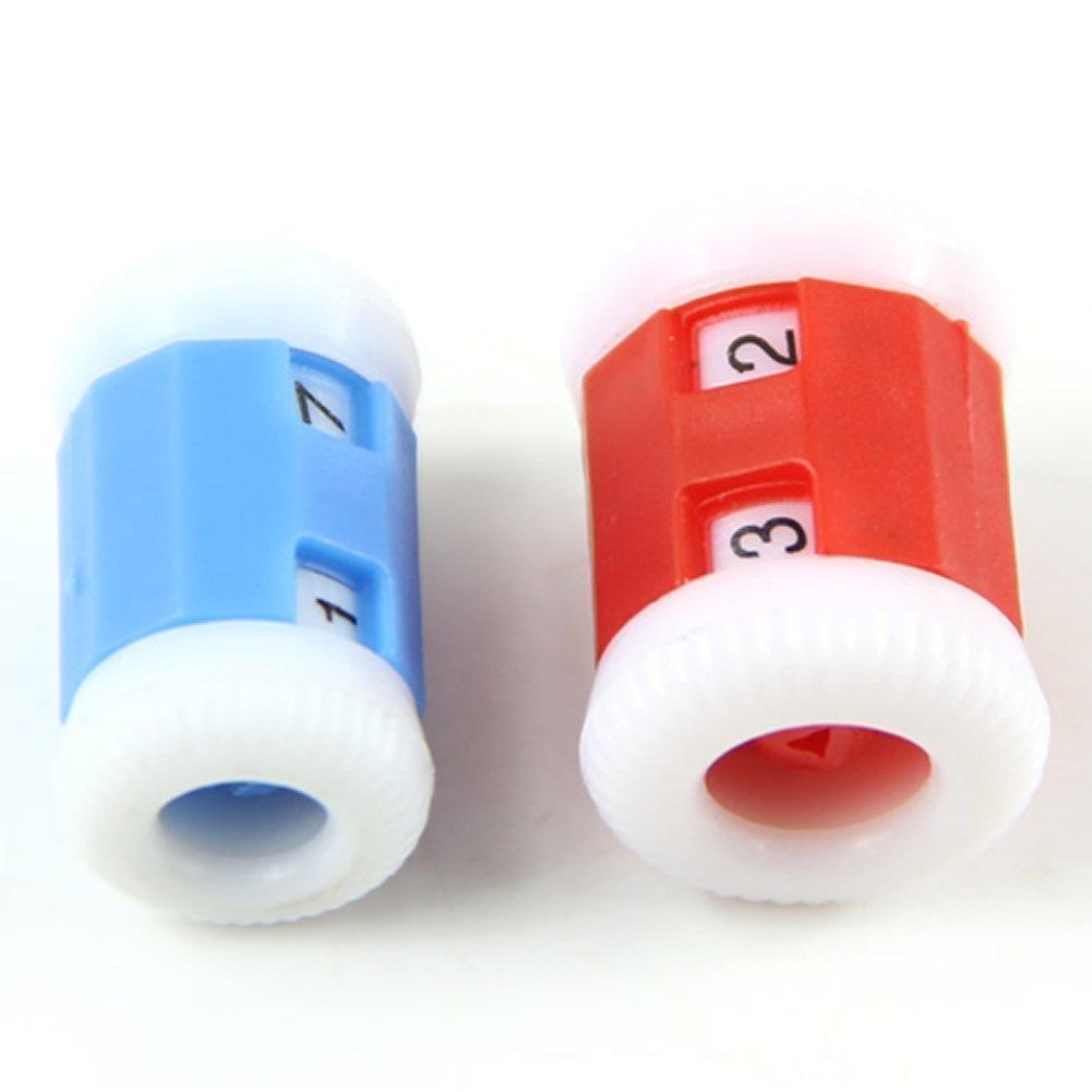 Tfxwerws 4pcs plastica maglia ferri da maglia contatore fila Pride Tool 2taglie (colore casuale)