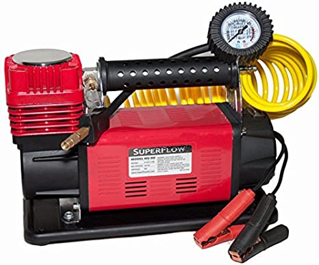 SuperFlow 12V Heavy Duty Air Compressor Inflator 4X4 truck and RV tires SUV