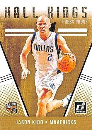 89952a879 2018-19 Donruss Hall Kings Press Proof Basketball Card  14 Jason Kidd  Dallas Mavericks