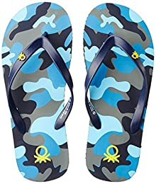 aa564085c3b United Colors of Benetton Men s Black Flip-Flops and House Slippers - 9 UK