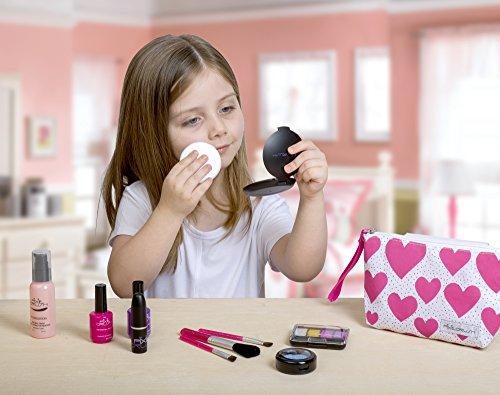 Cutegirl Cosmetics Pretend Play Makeup Kit. Designer Girls Hearts Essential Bag Set