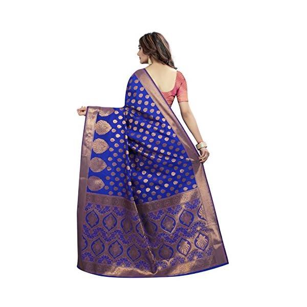 Silk Zone Women's Banarasi Silk Saree With Blouse(BANARASI MULTI)