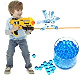 Water Bullets Water Gun Soft Bullets Soft Paintball Bullets How to make paintballs: 180ml water with 1 bag (About 200 paintballs). Put the paintballs into water for about 3-5 hours. Potential Hazard Tips:  1, Suction crystal elasty is of high swellin...