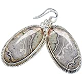 """Ana Silver Co Crazy Lace Agate 925 Sterling Silver Earrings 1 7/8"""" EARR345359"""