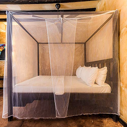 Universal Backpackers Mosquito Net for Double Bed - 6 Hanging Loops & 2 Side Openings - Bed Canopy Hanging Kit & Carrying Bag Included - Decorative Rectangular Shape for Home & Travel by Universal Backpackers (Image #7)