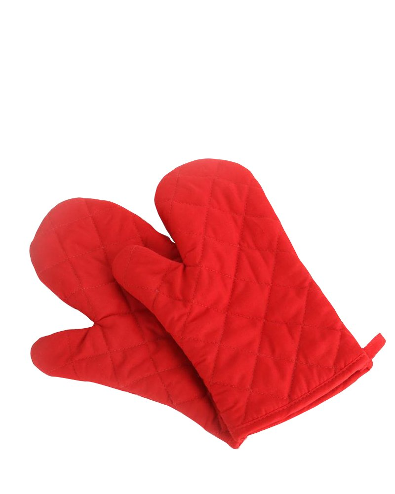 Oven Mitts, Premium Heat Resistant Kitchen Gloves Cotton & Polyester Quilted Oversized Mittens, 1 Pair Orange China