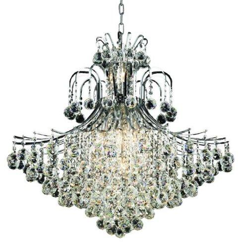 Elegant Lighting 8005G31C/RC Toureg 15-Light Chandelier, Finish with Crystal (Clear) Royal Cut RC Crystal, 35