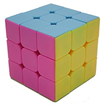 Smile YKK 3x3x3 Stickerless Pastel Sweets Mod Puzzle Cube Engineered Speed Solving Souptoys Magic