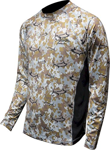 Tormenter Mens Marlin Long Sleeve Fast Dry Performance Shirt, Desert Camo, L ()