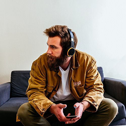Wearhaus Arc On-Ear Bluetooth Headphones with Wireless Music Sharing, Customizable Color Ring, Touch Controls, Spotify Apple Music Integrated iPhone Android App - Black by Wearhaus (Image #4)