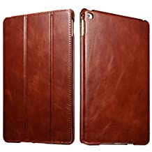 Benuo [Vintage Classic Series] iPad Air 2 Case [Genuine Leather] Folio Flip Leather Case [Stand Feature] [Magnetic Closure] with Smart Cover Auto Sleep / Wake Function for iPad Air 2 / iPad 6 (Brown)