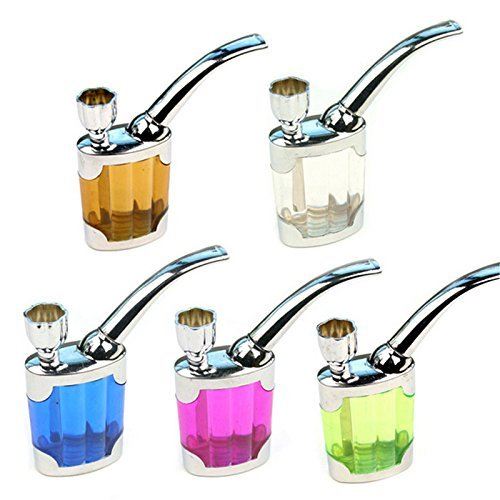 Water Smoking Tobacco Pipe Cigarette Cigar Tube Holder Hookah Filter Smoke(1PC)