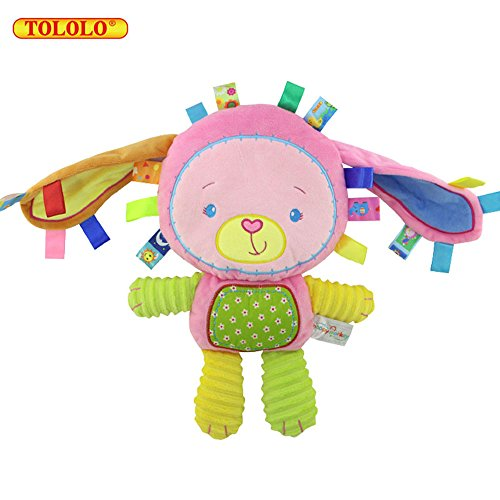 Price comparison product image TOLOLO Cute Animal Accompanied Sleep Baby Toys Doll for Over 0 Months (Bunnie)