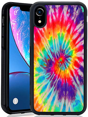 ChyFS Phone Case for iPhone Xr Tie Dye Case Black Protective Case for iPhone Xr. (Tye Dye Phone Case)