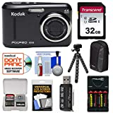 KODAK PIXPRO Friendly Zoom FZ43 Digital Camera (Black) with 32GB Card + Batteries & Charger + Case + Flex Tripod + Kit Review
