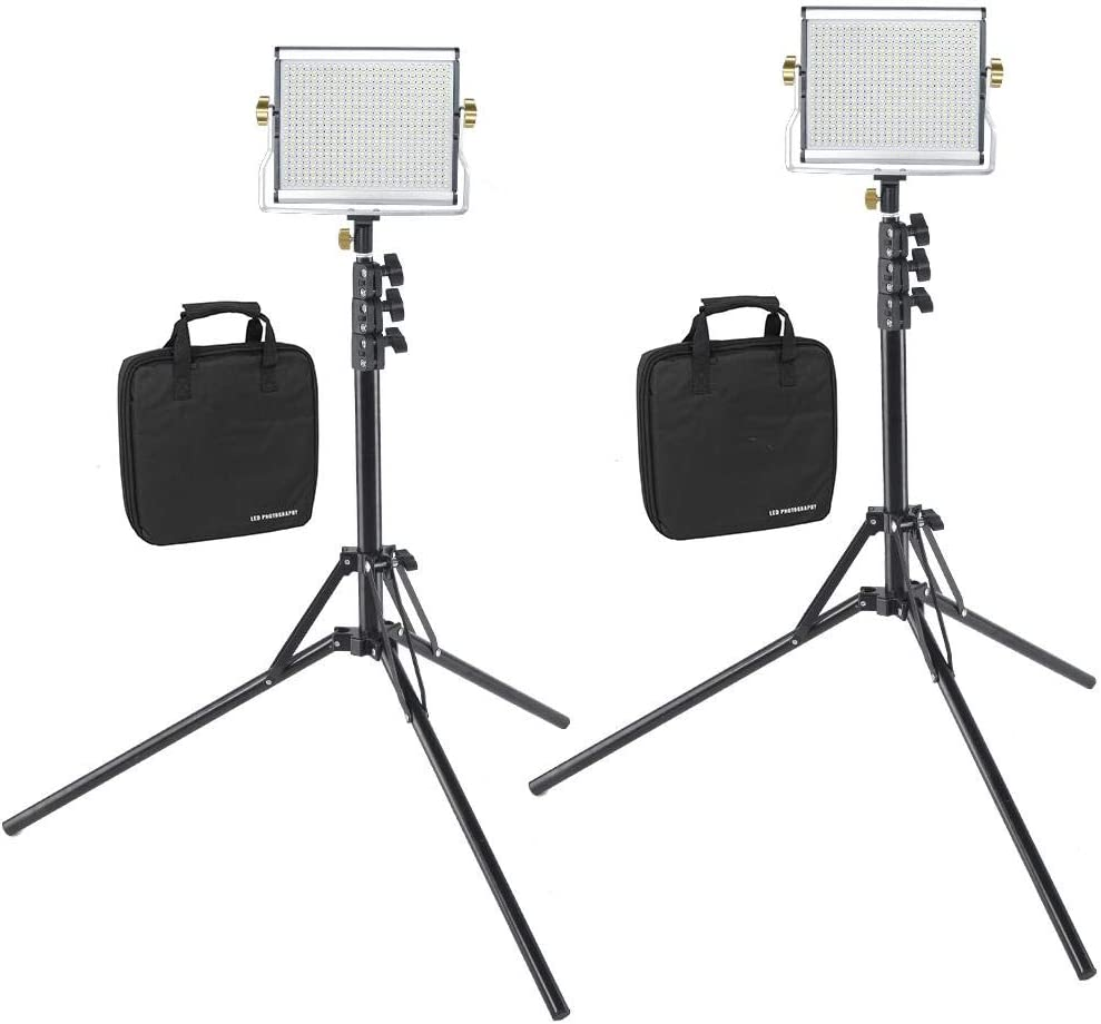 Vbestlife Video Fill Light LED Dimmable Camera Light Set LED Photography Shooting Lights Double Color 3200-6000K LED Light with 1//4 US