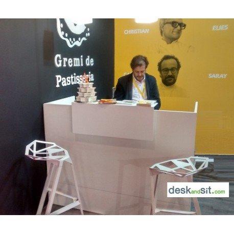 DESKandSIT mod Bancone da lavoro per esposizioni MOP72002 bianco