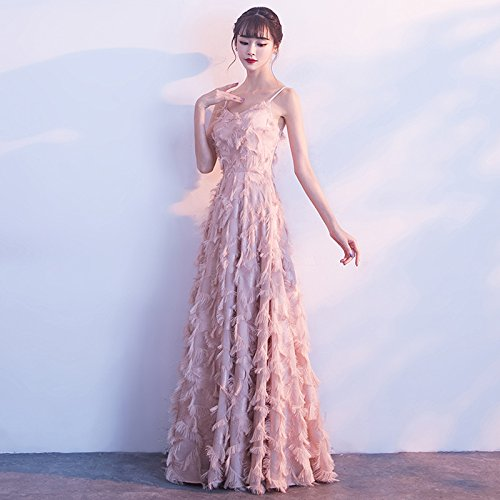 Atmosphäre Bankett Rosa Abendkleid Absatz MoMo Rock Elegante Rosa gediegene Weiblich Sexy Langen Brautjungfer Edle Kleid v1wwxACqY