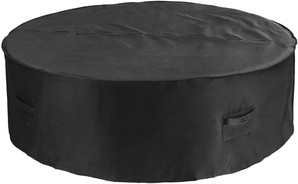 Patio Watcher Large Round Patio Table and Chair Set Cover Durable and Waterproof Outdoor Furniture Cover, Black