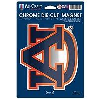 NCAA Auburn Tigers Die Cut Logo Chrome Magnet, 6.25 x 9-Inch