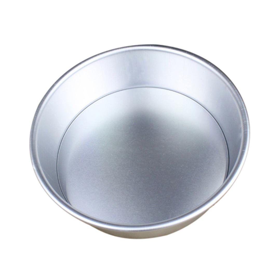 Dolloress Bakeware⭐5 Sizes Optional 2/4/6/7/8 inch Aluminum Alloy Non-Stick Round Cake Baking Mould Pan Bakeware Tool Ideal for Weddings, Birthdays