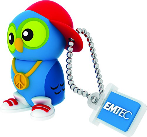 EMTEC Animalitos 2 8GB USB 2.0 Flash Drive DJ Owl ECMMD8GM341