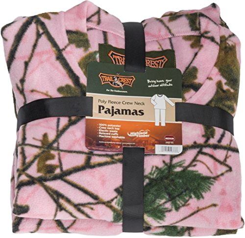 Womens-Pink-Camo-2-Pc-Pullover-Pajama-Pants-Set-W-Happy-Hunting-Magnet