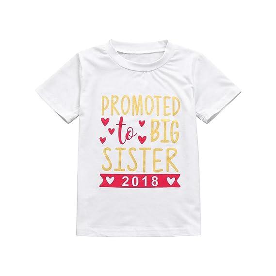 QinMM Camisetas Estampadas con Letras Para Niñas, Blusa de Manga Corta de Verano (Blanco, 7T): Amazon.es: Ropa y accesorios