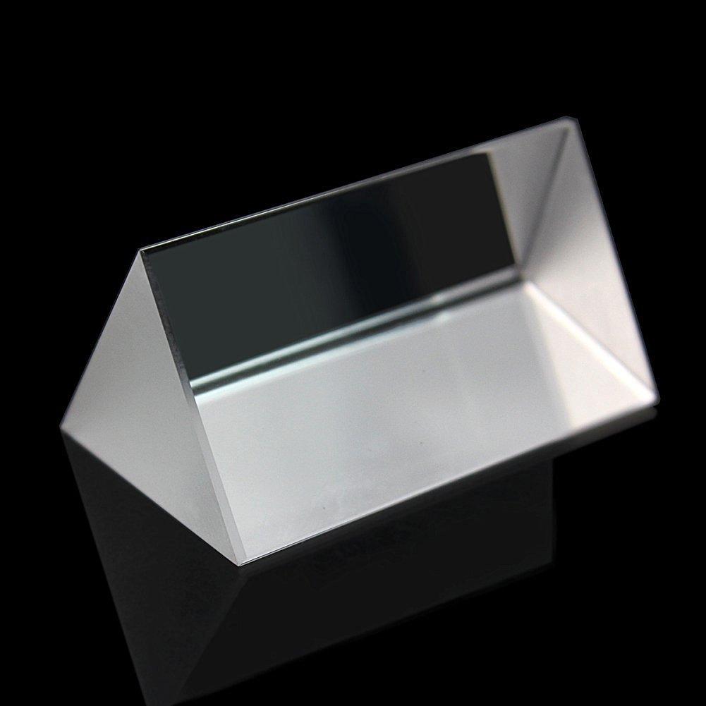 WINGONEER de cristal óptico de tres triangular Prisma Enseñanza de la Física luz de espectro 5cm / los rayos solares; siete colores: Amazon.es: Juguetes y ...