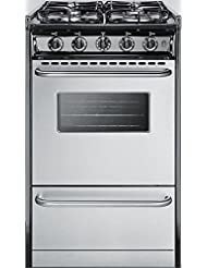 Summit TTM11027BRSW Kitchen Cooking Range, Stainless Steel