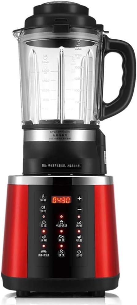 Zixin Power Beach Elite Mezclador eléctrico con 7 Funciones de batidora, Tarro de Cristal de Seguridad Lavavajillas, Negro Rojo.(1.75L) (Color : A): Amazon.es