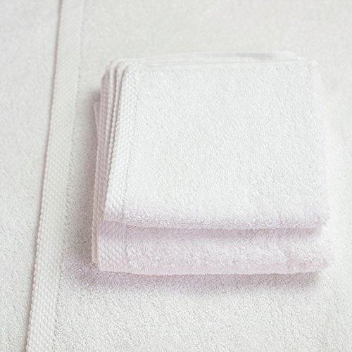 Garnier Thiebaut Towel - Garnier-Thiebaut Hotel Collection White Towels Set 7-pieces (2 bath towels, 2 hand towels, 2 wash cloth, 1 mat)