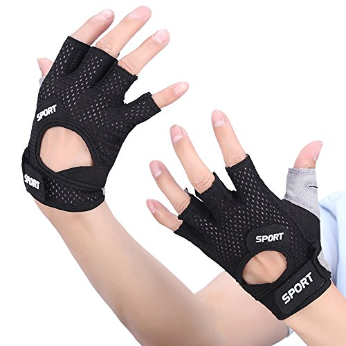 Price comparison product image ADREAML New Ventilated Weight Lifting Gloves with Built-In Wrist Wraps Full Palm Protection & Extra Grip