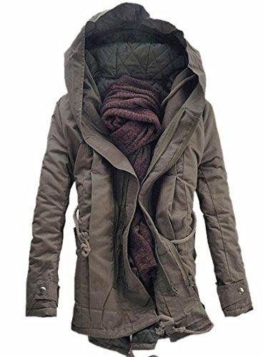 1 Con Cappuccio Inverno Oggi Cappotti Cotone Giacca Imbottito Uomo Caldo Da uk q6POaU