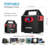 Coolis 150Wh Portable Solar Power Inverter Generator, with Silent 110V AC *2 / 12V DC *3 / USB *2 Output, 40800mAh Lithium Polymer Battery