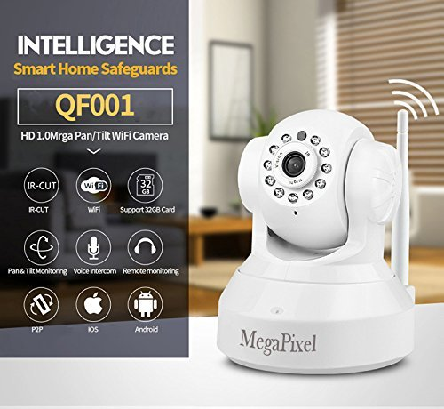 Wireless Home Security Camera, Smartphone Remote Monitoring, Wireless Pan/Tilt, Wi-Fi HD 720P IP, 2 Way Audio, Motion Detection, Night Vision Home Security Camera [by Megatronic] [並行輸入品] B01NCRBBZF
