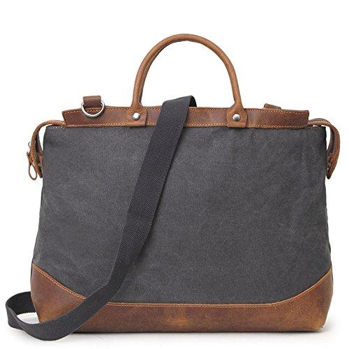 mefly Men 's Casual Bolsa de viaje de gran capacidad bolso bolsa de viaje para hombres, caqui negro y gris