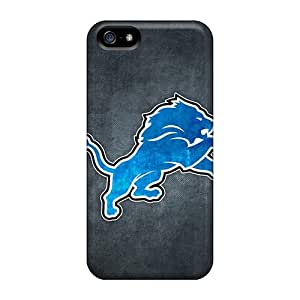 ErleneRobinson Iphone 5/5s Durable Hard Phone Cases Customized Beautiful Detroit Lions 10 Pattern [SNY17004hjTU]