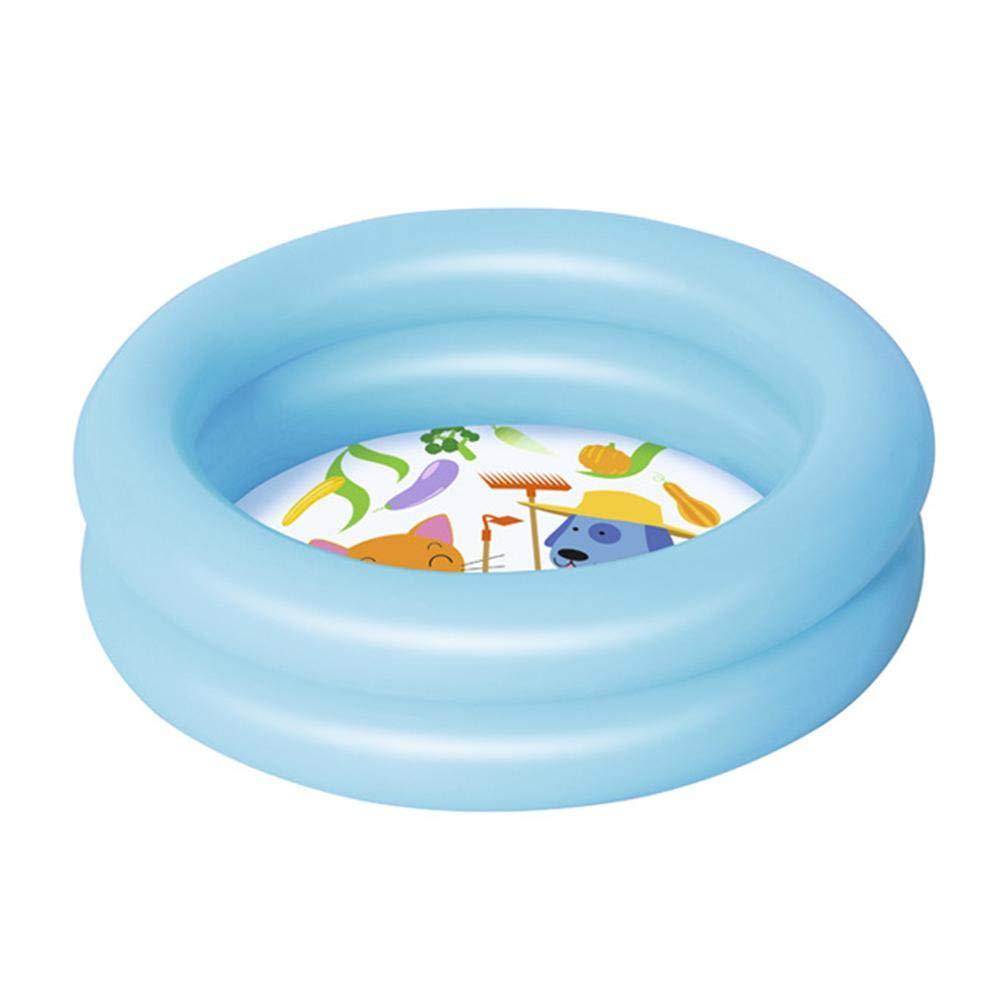 Aufblasbares Planschbecken für Kinder Schwimmbad Babyspielzeug, 2 Ring, Blau
