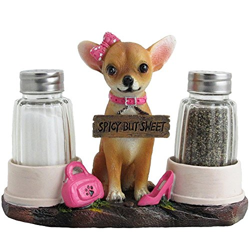 Chihuahua Salt and Pepper Shaker Holder Set