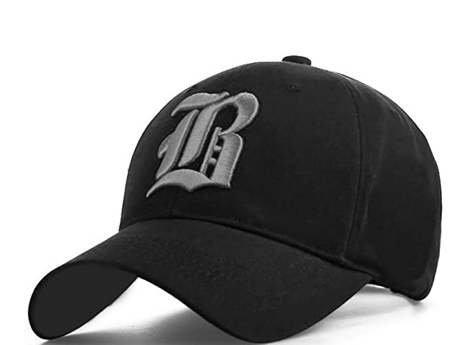Amazon.com : 4sold® Snapback Cap Casual Baseball Gothic B Letter Caps Bsnap Back Hat Hats Large/X-Large B Black Gray : Sports & Outdoors