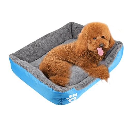 ANPI Pet Bed, Soft Warm Machine Washable Bolstered Microfiber Modern Design Deluxe Pet Cushion Nest Cave Bed Sofa for Cat Dog Rabbit Puppy Pet (Medium, (Nuzzle Nest Dog Pet Bed)