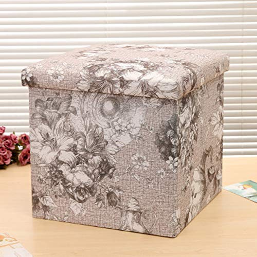 JiaQi Foldable Storage ottoman,Creative Foot stools,Cloth Stackable Living...