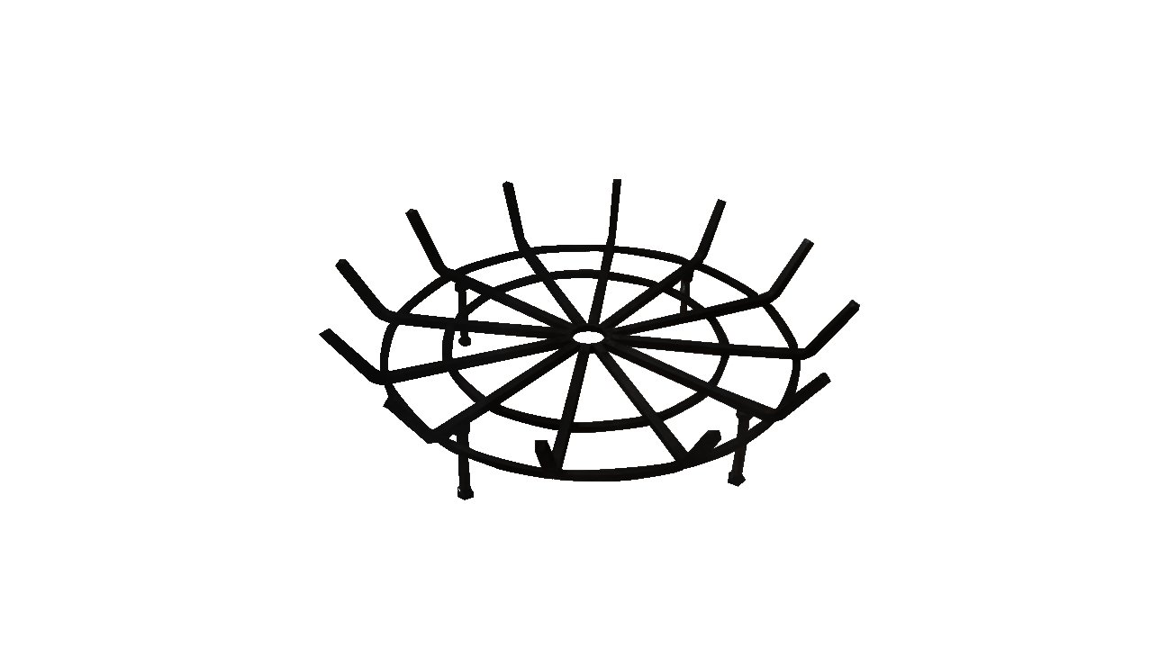 Round Spider Grate for Outdoor Fire Pit 28 Diameter 6 Legs