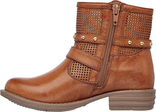 Skechers Girls Mad Dash Pretty N Perfed Ankle Boot Camel