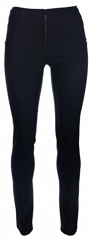 Extra Short Black Zip Straight Leg Miss Chief Girls School Trousers Straight Leg Stretch Hipster Black//Grey 27 Inside Leg