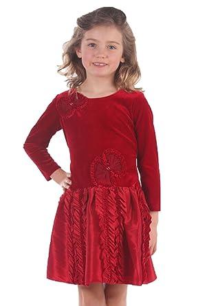 amazon com isobella and chloe monet dropwaist red holiday dress