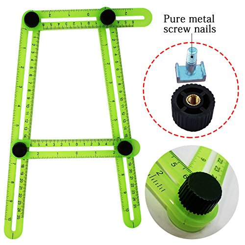 Mulgore Angleizer Template Tool Multi Angle Measuring Ruler Measures All Angles General Angleizer Template Ruler And Forms Angle Izer Angle Template Tool For Handymen Craftsmen Builders  Green